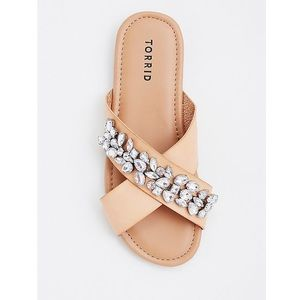New torrid gemstone slide sandal size 10